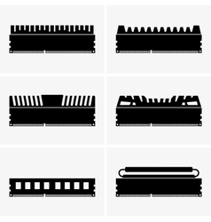 Memory module vector image