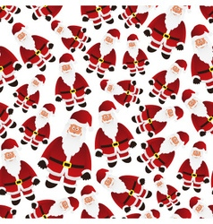 Colorful cartoon santa claus with red outfit vector