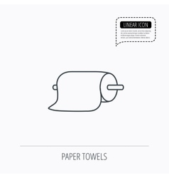 Paper towels icon kitchen hygiene sign vector