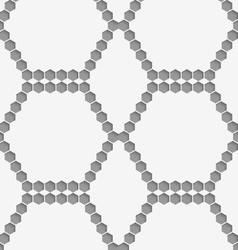 Perforated paper with hexagons forming hexagons vector