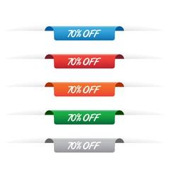 70 percent off paper tag labels vector image vector image