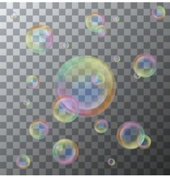 Modern soap bubbles on background vector