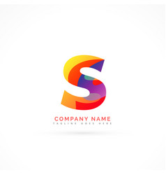 abstract letter s shape logo design vector image