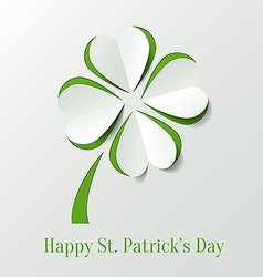 Abstract st patricks day background with clover vector
