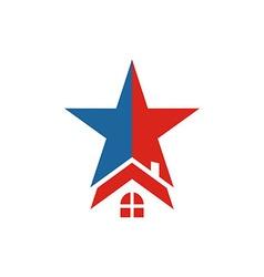America USA logo Star House icon vector image vector image