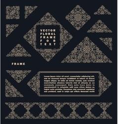 Arabic set of frames lines art design vector