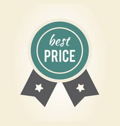 best price sticker with ribbon vector image