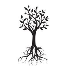 black tree vector image vector image