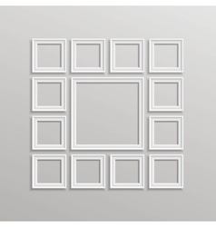 Blank Picture Frame Template Composition vector image