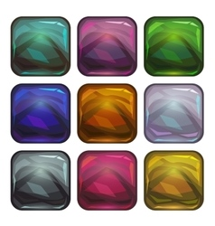 Cartoon app icon backgrounds set vector image