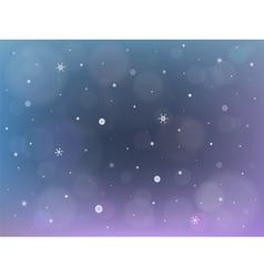 Christmas background with bokeh and snowflakes vector