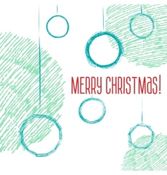 Christmas balls hand-drawn style sketch vector image vector image