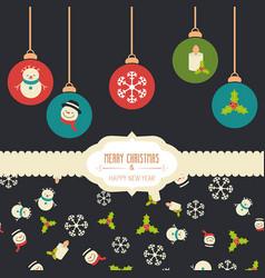 christmas greeting card christmas greeting card vector image vector image