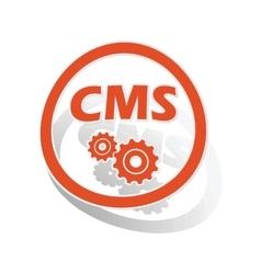Cms settings sign sticker orange vector