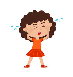 color of crying girl isolated vector image