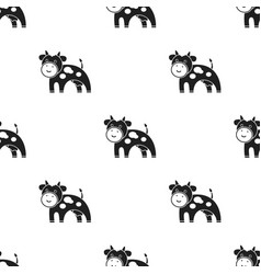 Cow black icon for web and mobile vector