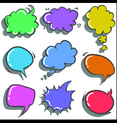 Doodle of text balloon colorful hand draw vector