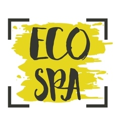 Eco spa hand drawn isolated label vector