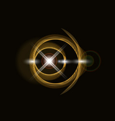 golden shiny loop on a dark background bright vector image vector image
