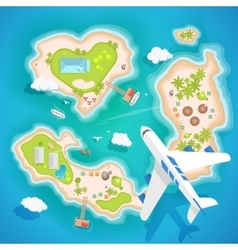 islands top aerial view - travel tourism vector image