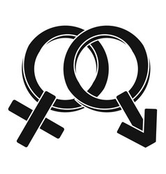 male and female signs icon simple style vector image