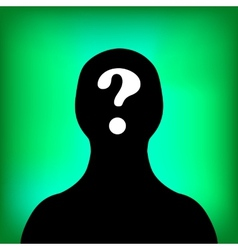 Man silhouette profile picture vector image
