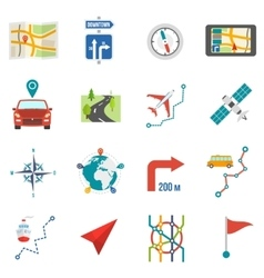 Map Icons Flat vector image vector image