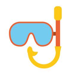 Mask snorkel vacation recreation vector