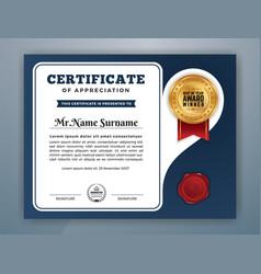 Multipurpose modern professional certificate vector