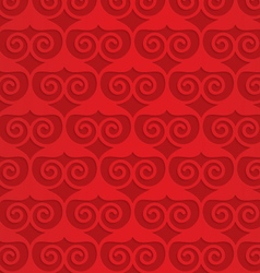 Red swirly heart grid vector image vector image