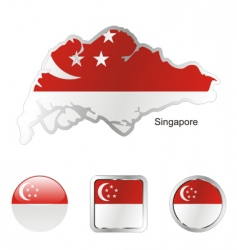 singapore vector image vector image