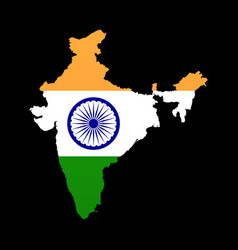 The detailed map of the india with flag vector