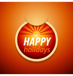 Attach happy holidays sticker vector
