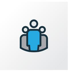 Unity colorful outline symbol premium quality vector