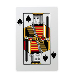 king of spades playing cards vector image