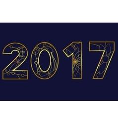 2017 year golden vector
