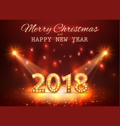 2018 happy new year greeting background with vector