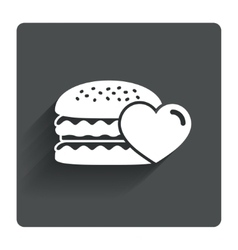 Hamburger icon burger food symbol vector