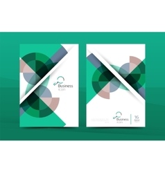 Design of annual report cover brochure vector