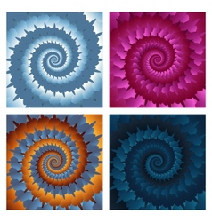 Abstract spiral background set eps10 vector image