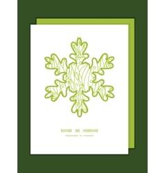 Abstract swirls texture christmas snowflake vector