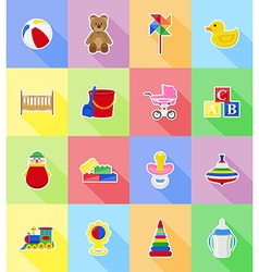 baby flat icons 18 vector image vector image
