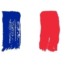 Big drawn flag of France vector image vector image
