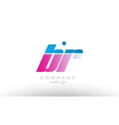 Br b r alphabet letter combination pink blue bold vector