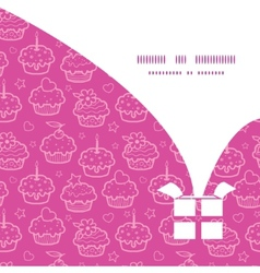 Colorful cupcake party christmas gift box vector