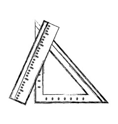 Figure rulers school utensils to education and vector