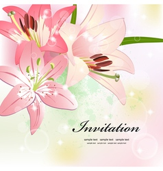 flower invitation card vector image