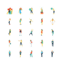 Human color icons 6 vector