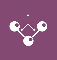 Icon molecule and arrows vector