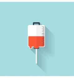 Intravenous therapy system iconMedical dropper vector image